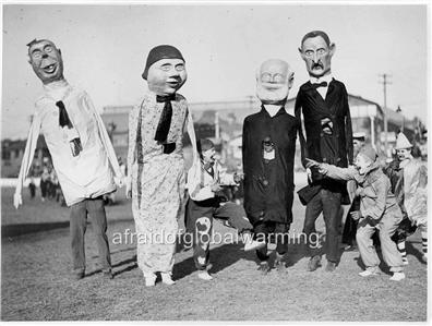 Photo 1930s Circus Sideshow Clowns Amp People In Paper