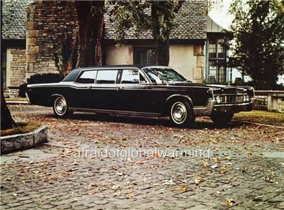 Old Photo Black 1967 Lincoln Continental Executive Limousine Ebay