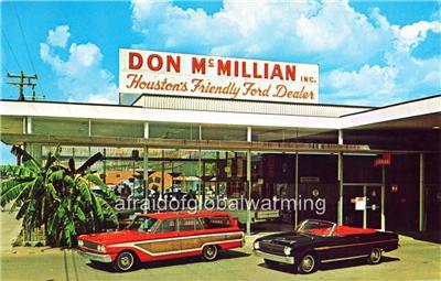 Houston Ford Dealers >> Photo 1963 Houston Tx Don Mcmillan Ford Auto Dealership Ebay