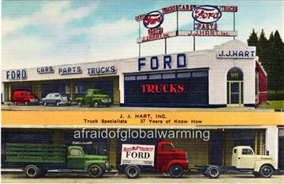 Car Dealerships In Brooklyn >> Photo. 1940s. Brooklyn, NY. J. J. Hart, Inc., Ford - Auto ...