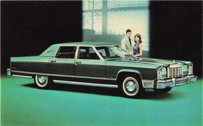 1976 Lincoln Continental Town Car Auto Ad Print