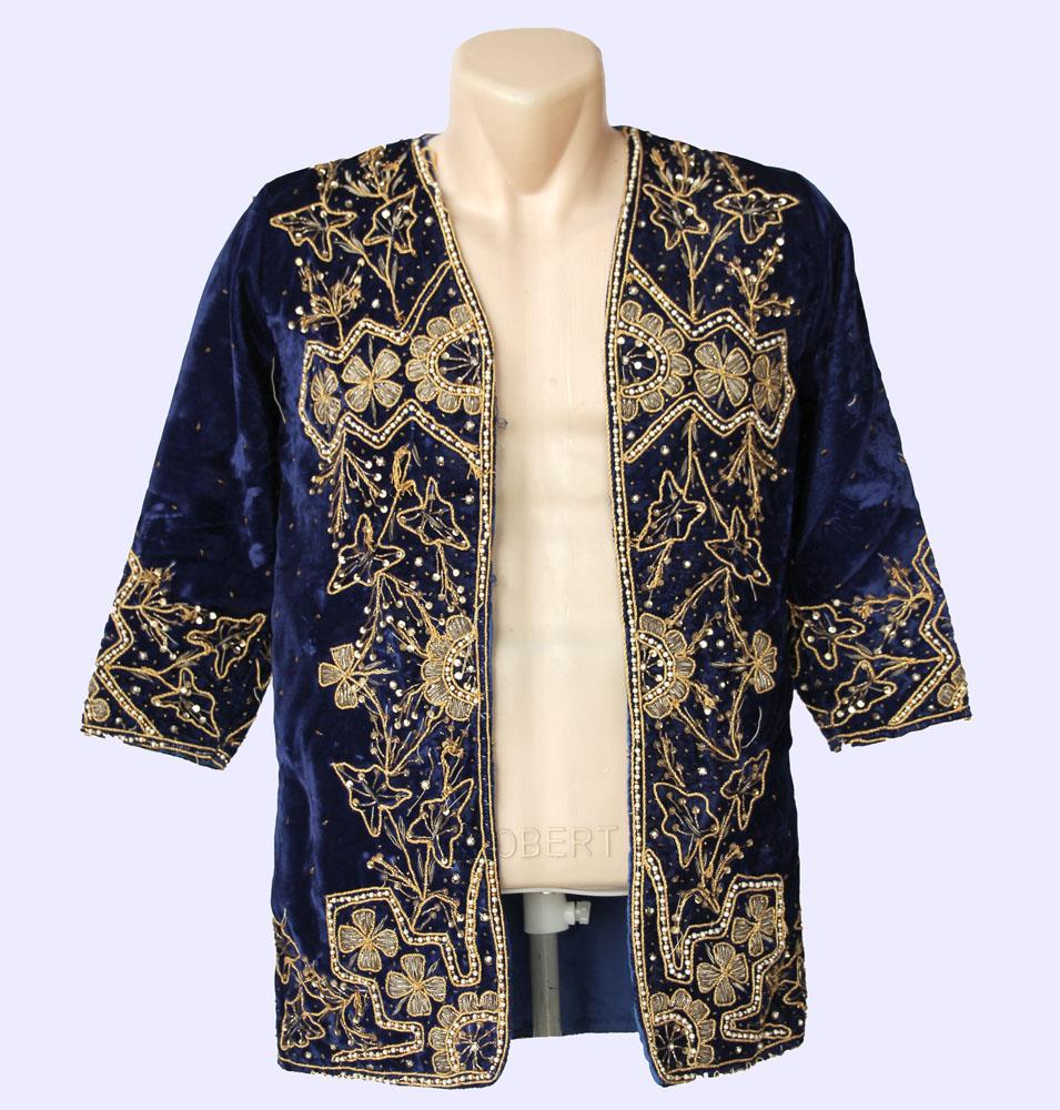 Yellow Silk Embroidered Uzbek Jacket Chapan Light Coat Kaftan Robe From Uzbekistan Author/'s Work
