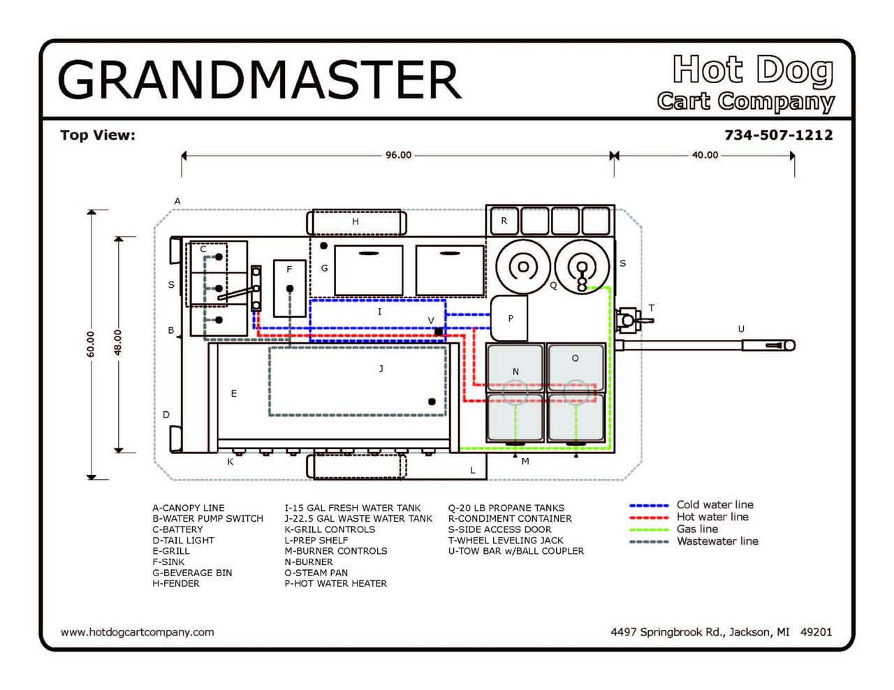 Grand Master Hot Dog Cart Vending Concession Trailer Ebay