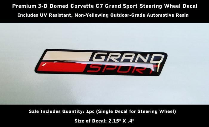 2014-2019 C7 Corvette Grand Sport Vinyl Decal for Steering Wheel