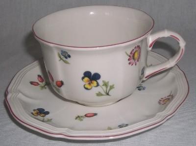 villeroy boch petite fleur tea cup and saucer ebay. Black Bedroom Furniture Sets. Home Design Ideas