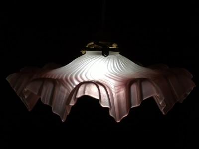 FRENCH ART DECO OPALINE GLASS LAMP LIGHT SHADE SNOWFLAKE DESIGN