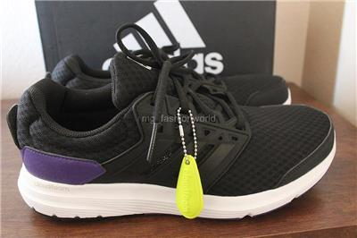 adidas cloudfoam black and purple