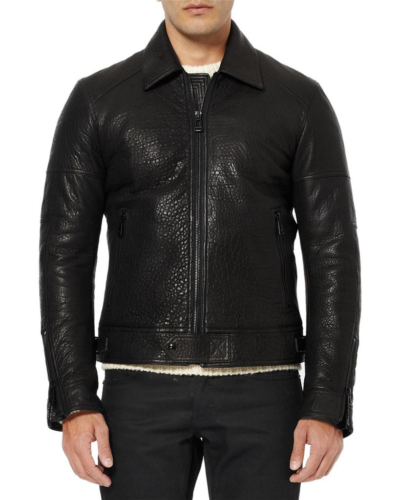 11e7df17ee0f Details about NEW BELSTAFF MARSHE SOFT BLACK 100% LEATHER JACKET Italian 48  - US 38