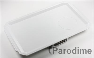 White Plastic Foldable Folding Armrest Tray Car Armchair