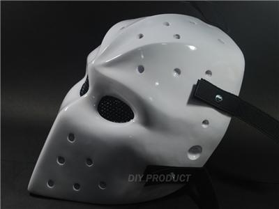 White NHL Hockey Goalie Mask Airsoft Mask Fiberglass ...