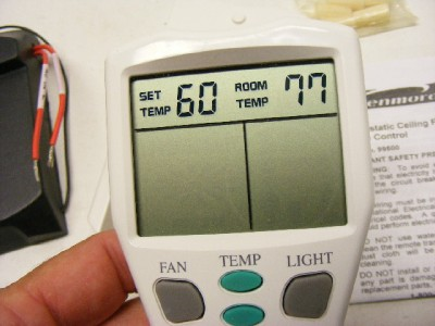 Kenmore 99500 Thermostatic Ceiling Fan Remote Control