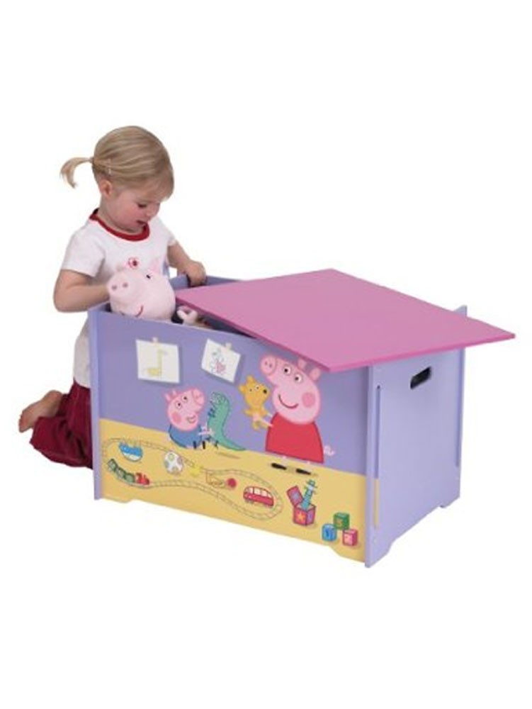 Modern Toy Box Living Room: PEPPA PIG MDF TOY BOX NEW BOXED BEDROOM STORAGE
