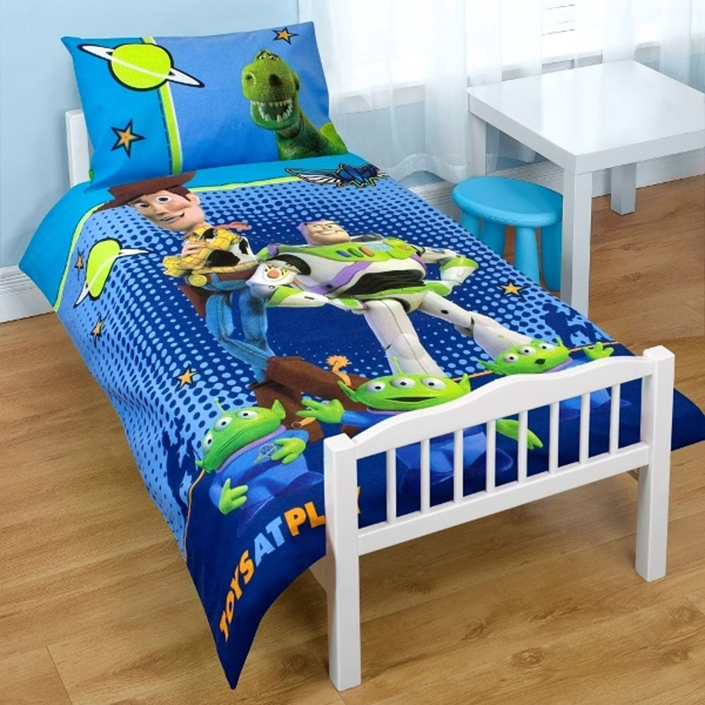 TOY STORY 'SPACE' JUNIOR COT BED DUVET COVER NEW | eBay