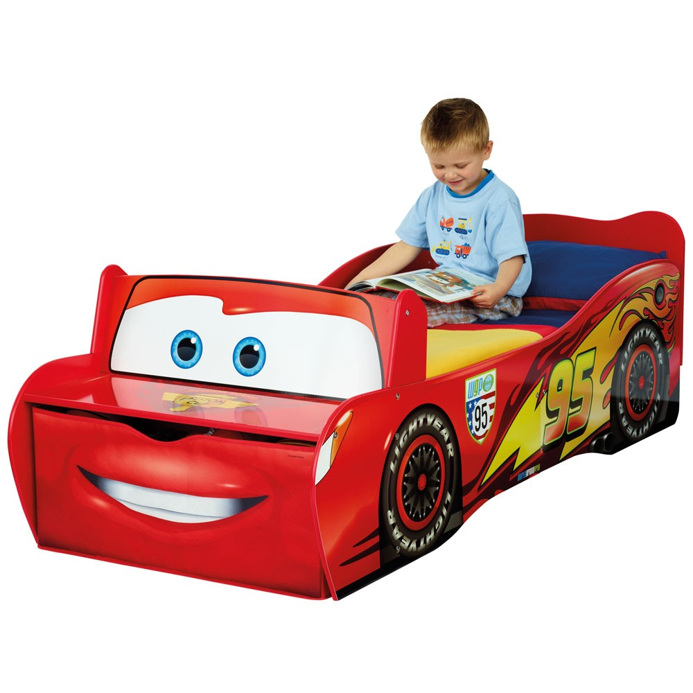 disney cars toddler feature bed lightning mcqueen new ebay. Black Bedroom Furniture Sets. Home Design Ideas