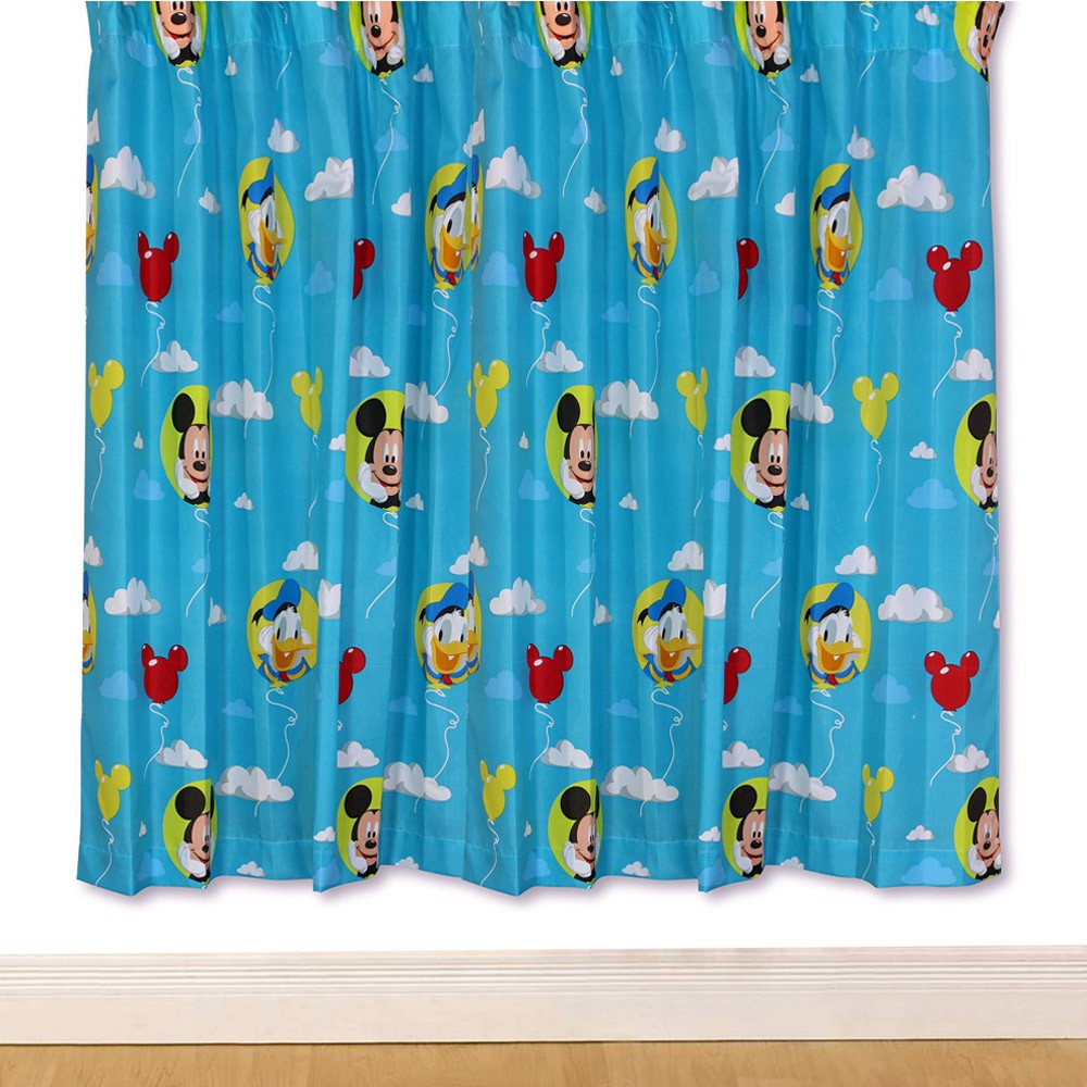 Mickey Mouse Puzzled 66 x 72 Curtains (FREE P+P) on PopScreen