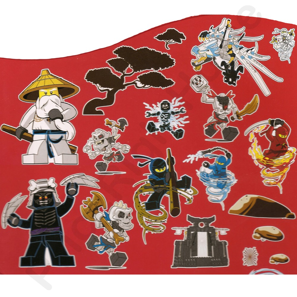 Lego Ninjago Wall Stickers Official New 25 Pieces Room