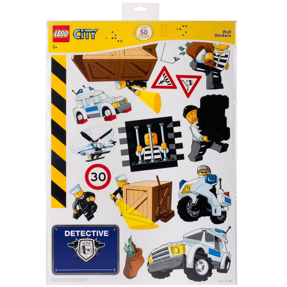 Lego City Police Giant Wall Stickers Official New 50
