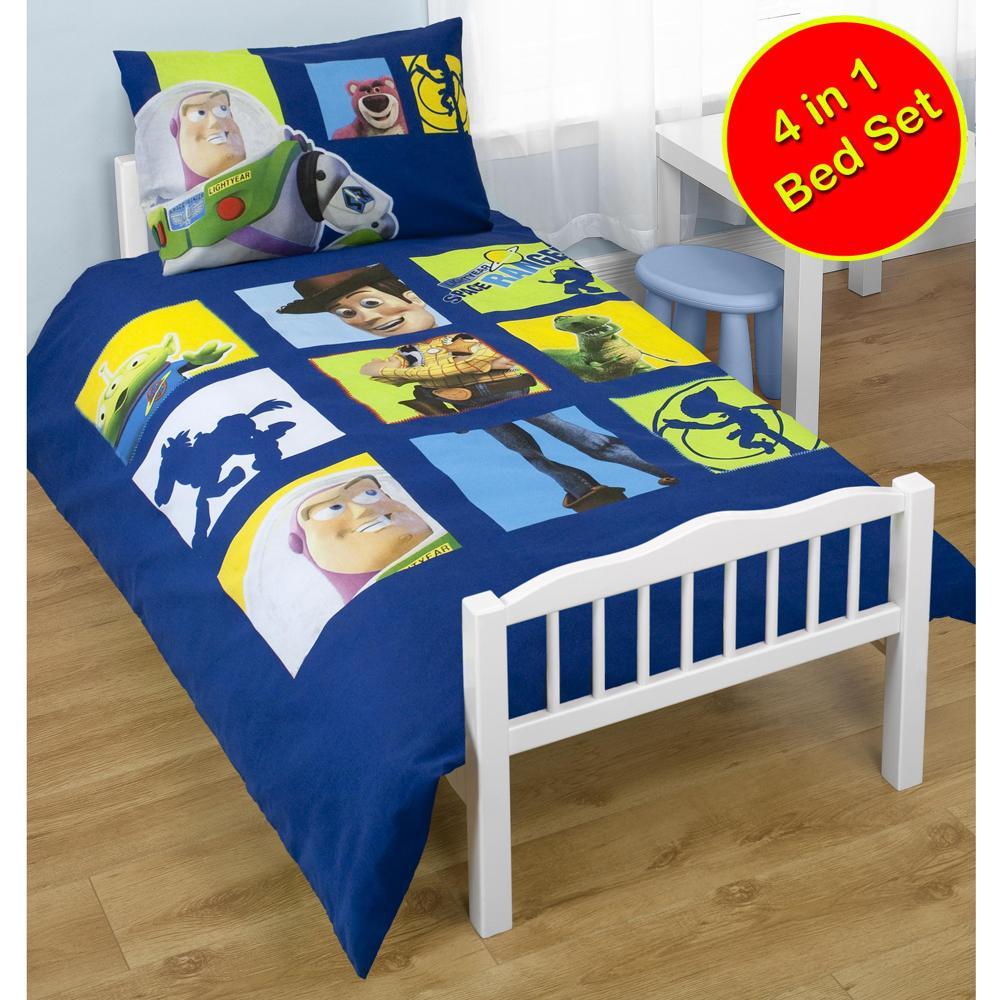 4 In 1 Junior Toddler Cot Bed Bedding Bundle Duvet