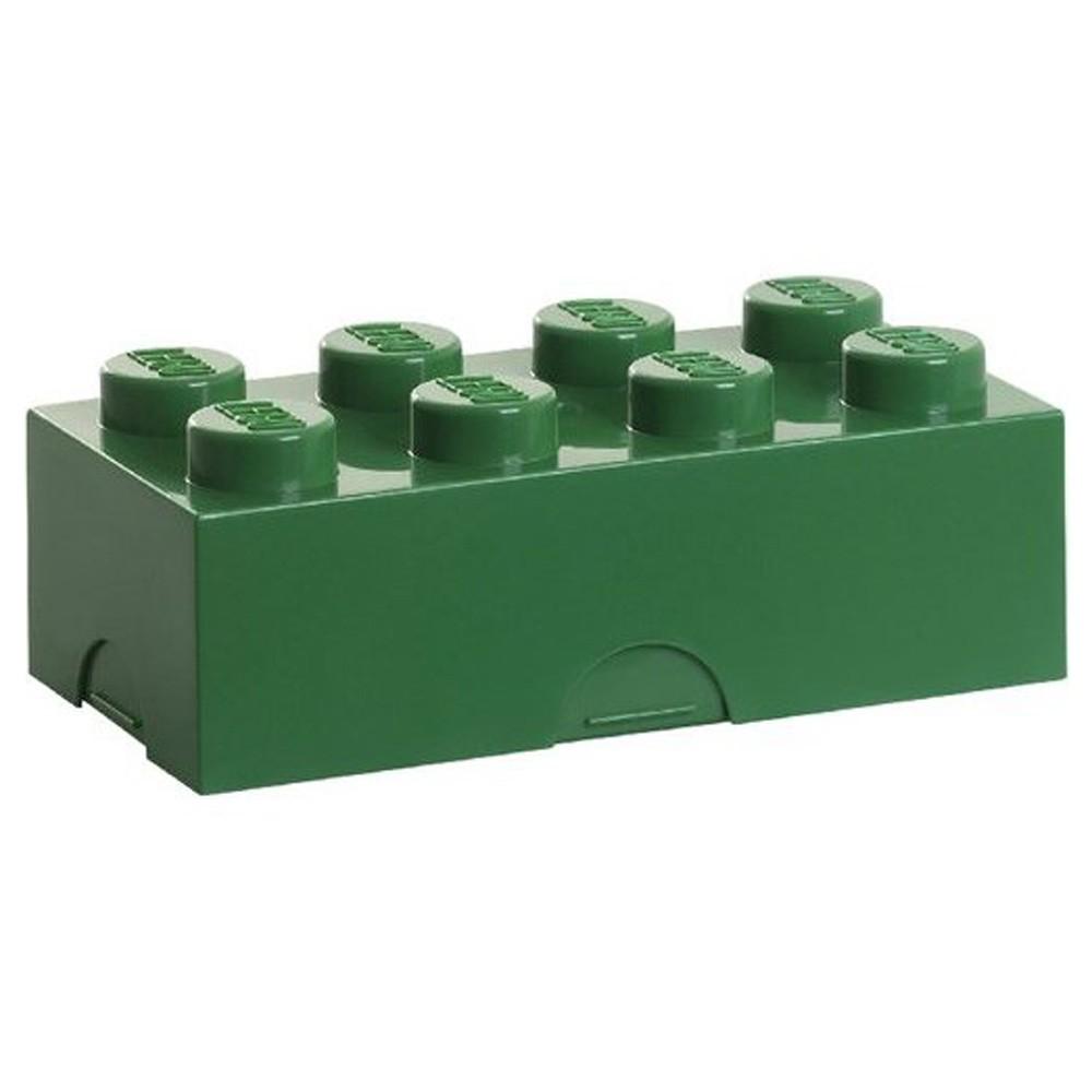 LEGO LUNCH BOX / STORAGE BRICK NEW - GREEN