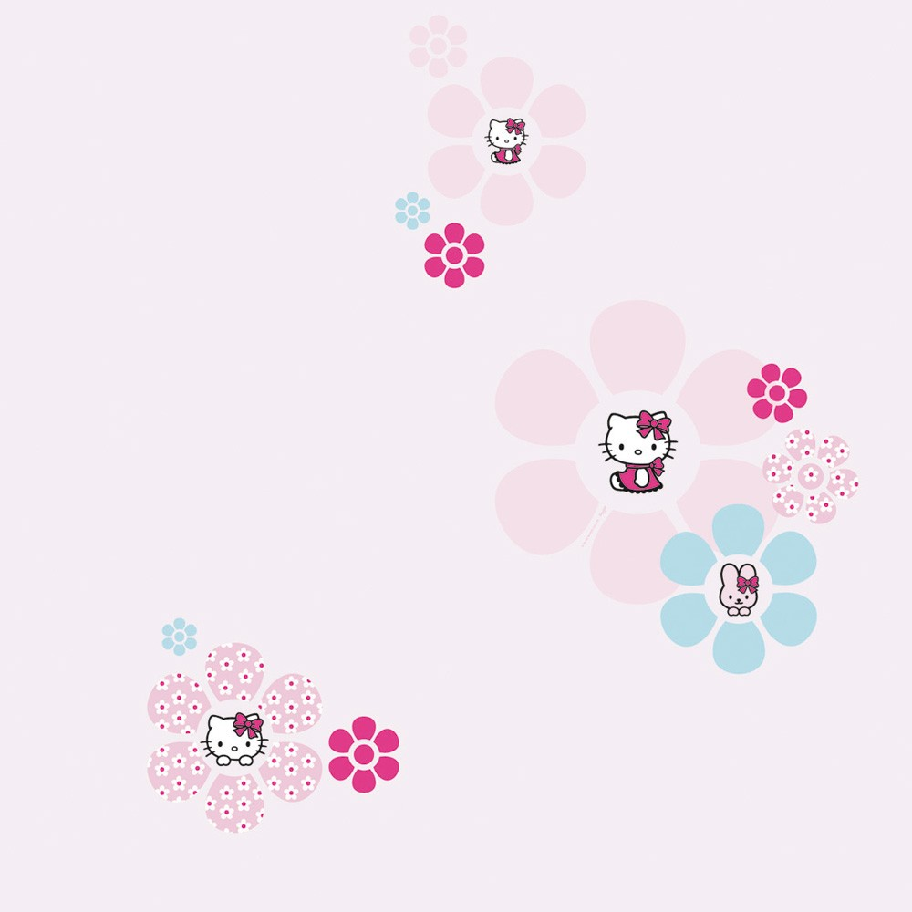 HELLO KITTY 'FLOWERS' WALLPAPER 10m NEW OFFICIAL Matches