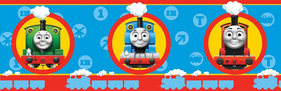 Thomas friends wallpaper border 7 39 no 1 engine 39 new - Background thomas and friends ...
