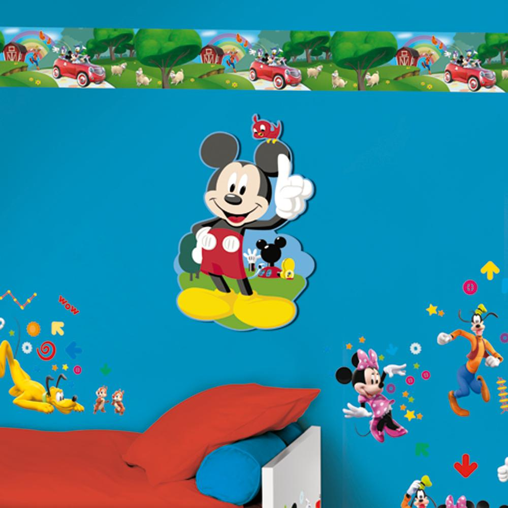 bord re mickey mouse clubhouse selbsklebend 5m tapete ebay. Black Bedroom Furniture Sets. Home Design Ideas
