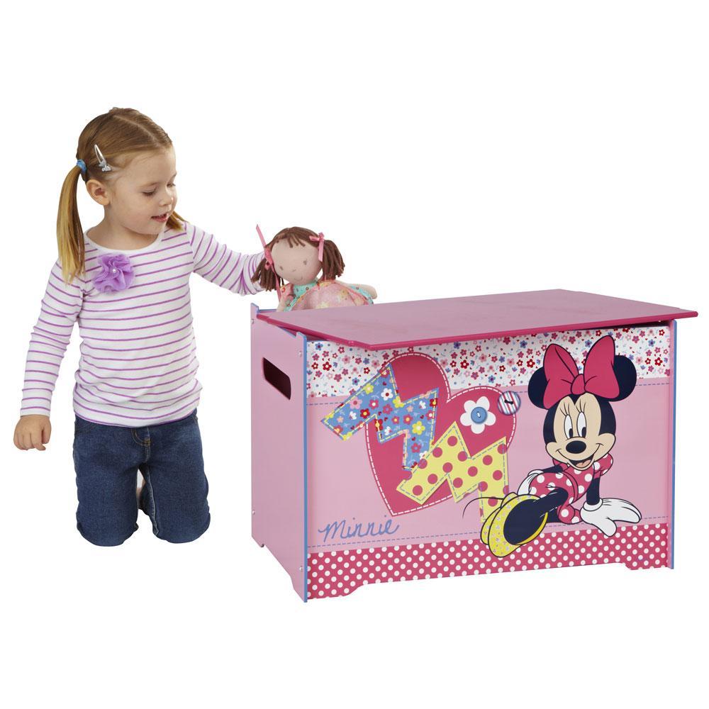 Minnie Mouse Bedroom 3 Drawer Storage Kids Wooden Box Pink: Minnie Mouse Toy Box Bedroom Furniture New (FREE P+P)