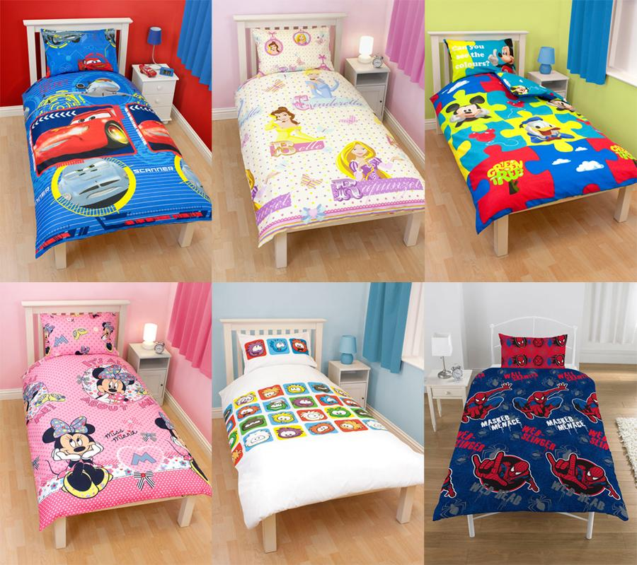housse de couette personnage enfant lit 90 disney et spiderman ebay. Black Bedroom Furniture Sets. Home Design Ideas