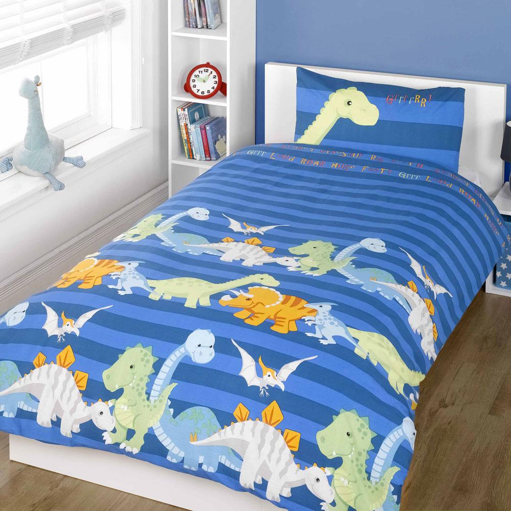 Children's Bedding Create a happy space for your little one with our range of children's bedding, available in single and double bedding sets. Inspire young imaginations with our charming selection of kids' bedding featuring their favourite animals, characters and themes.