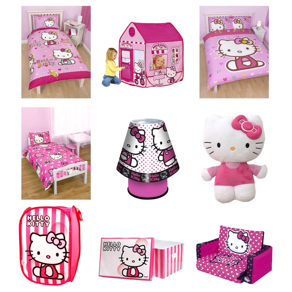Accessories Hello Kitty Bedroom Bedroom Colors With Dark Furniture Black White Silver Bedroom Master Bedroom Cupboards Designs: HELLO KITTY DUVET COVERS, BEDROOM ACCESSORIES, FURNITURE