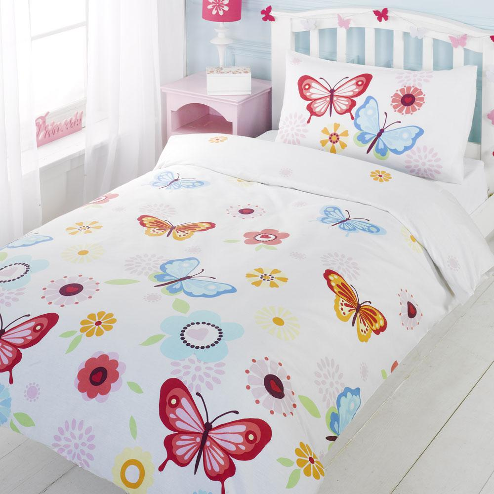 Owl Bedroom Curtains Girls Reversible Single Duvet Quilt Cover Childrens Bedding Set