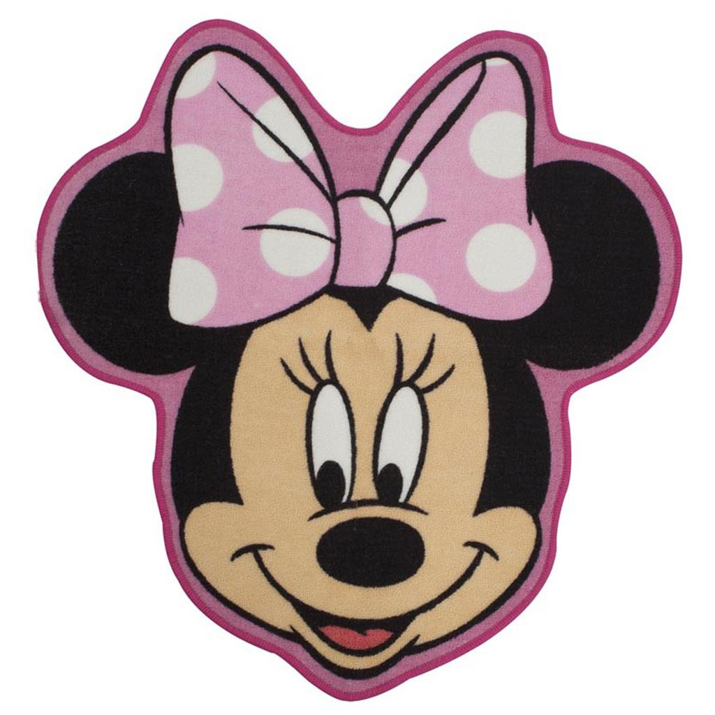 DISNEY MINNIE MOUSE MAKEOVER SHAPED FLOOR RUG MAT
