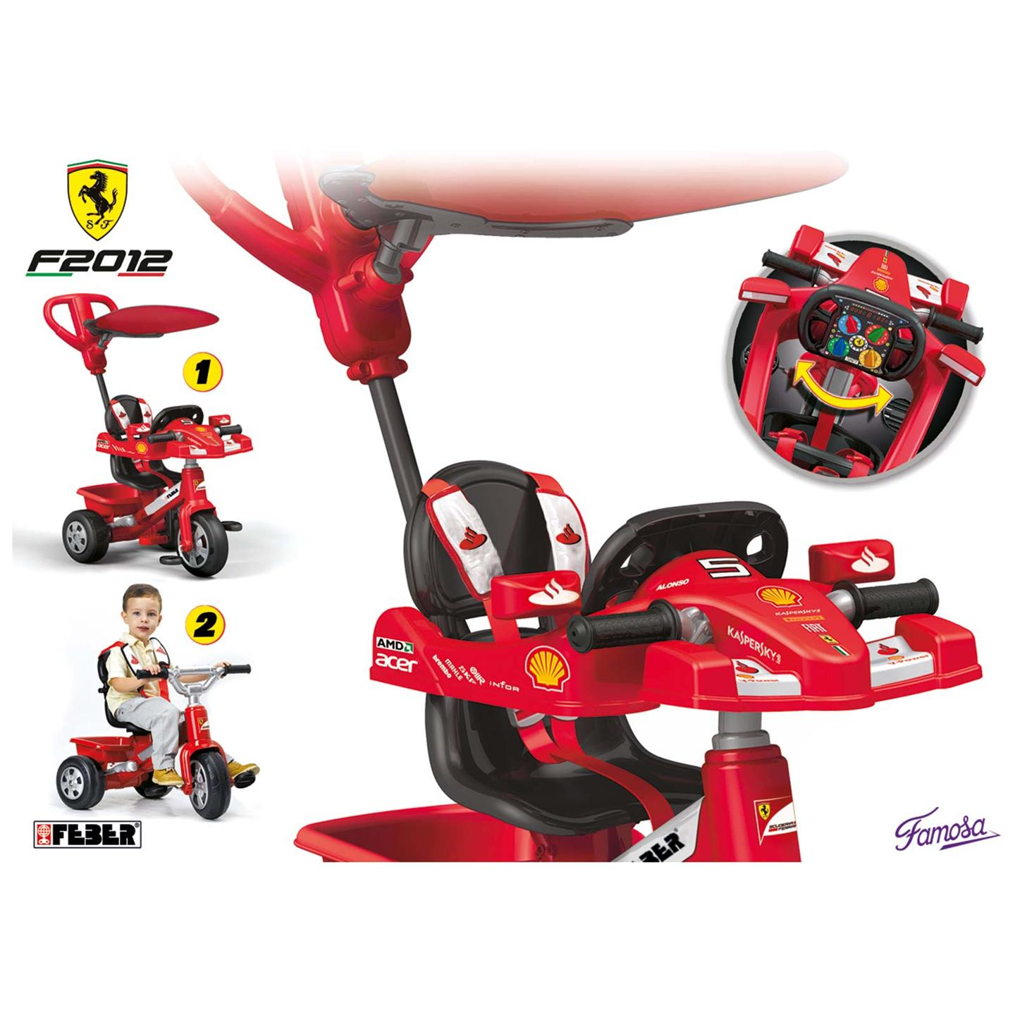 Ferrari Trike Tricycle W Parent Handle New Free P P Ebay