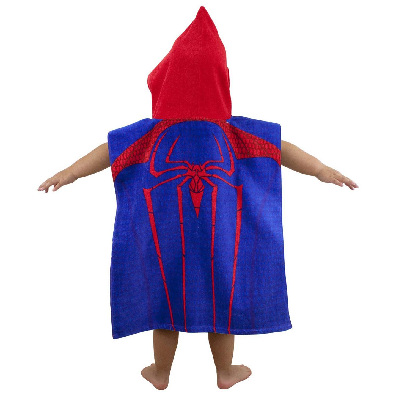 spiderman city poncho handtuch badetuch mit kapuze blau rot kinder ebay. Black Bedroom Furniture Sets. Home Design Ideas