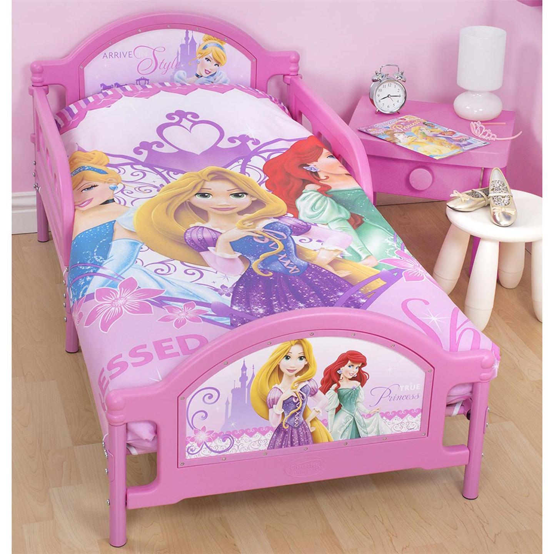 DISNEY PRINCESS 'SPARKLE' JUNIOR TODDLER BED NEW CHILDRENS
