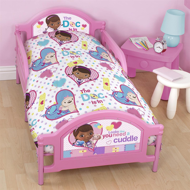 doc mcstuffins 'patch' junior cot bed duvet cover bedding