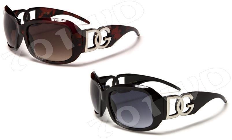 f1388cef854 Image is loading NEW-Womans-DG-Designer-Sunglasses-Black-Brown-Fashion-