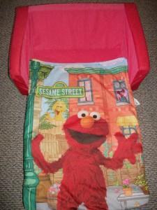 Sesame Street Elmo Flip Open Sofa Couch Bed Sleeper
