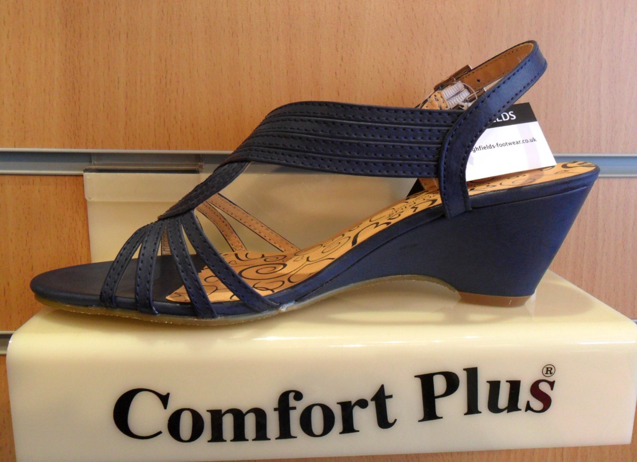Navy Wide Fit Shoes Uk