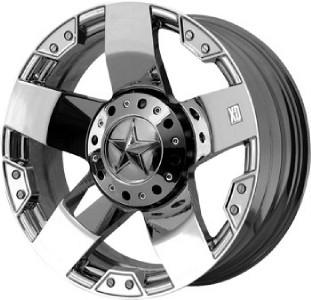 22 inch KMC XD Rockstar chrome wheels Ford F150 6x135