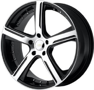 18 inch 18x8 DIAMO 37 Karat Black Wheels Rims 5x112 42