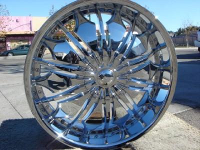 26 inch T706 Chrome Wheels Rims GMC Yukon Denali Sierra