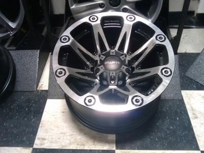 15 inch ballistic flash black wheels rims jeep wrangler ebay. Black Bedroom Furniture Sets. Home Design Ideas