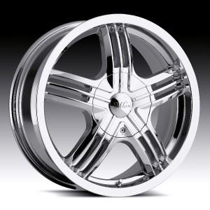 16 inch Milanni Stealth Chrome Wheels Rims 5x105 40