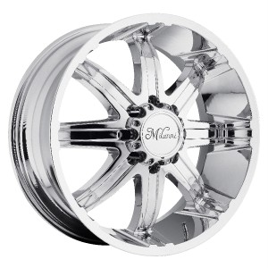 24 inch Milanni Kool Whip Chrome Wheels Rims 8x6 5 8x165 1 18