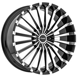 20 Inch Panther 911 Black Wheels Rims 5x115 +35 / Cadillac CTS DTS STS