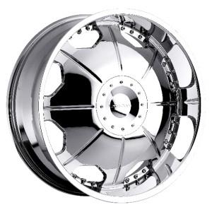 22 inch Strada Mirror Chrome Wheels Rims 6x5 6x127 Trailblazer Envoy