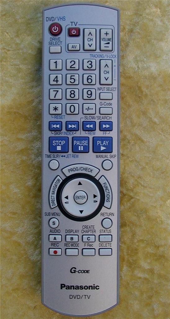 Panasonic Remote Control EUR7659YJ0 For DVD RECORDER
