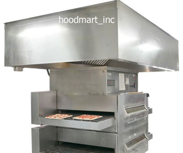 Kitchen Exhaust Hood: Commercial Kitchen Pizza Oven Exhaust Hood System