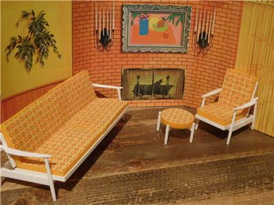 Remarkable Details About Re Make Vintage Barbie Go Together Foam Cushions For Sofa Chair Ottoman 7 Pcs Theyellowbook Wood Chair Design Ideas Theyellowbookinfo